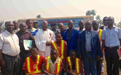Bau der 1. Berufsschule für Brunnenbauer in der DR-Kongo